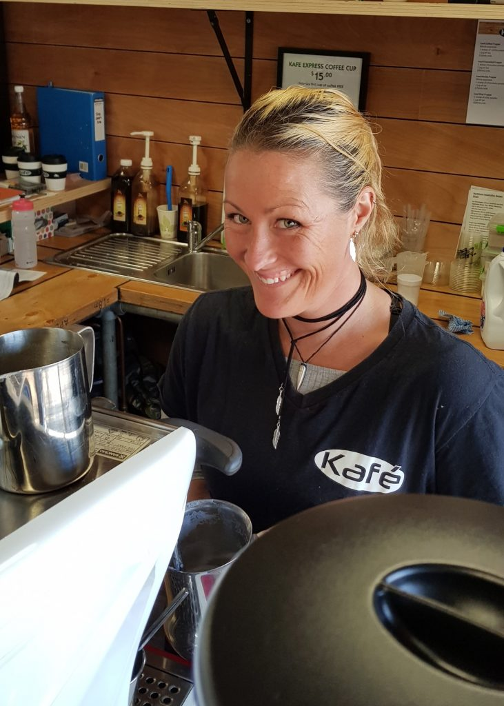 Meet Hanna, Hanna's here every Monday, Tuesday Wednesday and Thursday making excellent coffee.