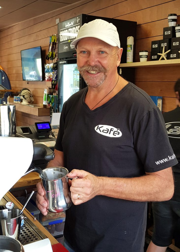 Meet JK, when's not at Total Idea Co you'll find him here making coffee or on the water paddling a SUP.